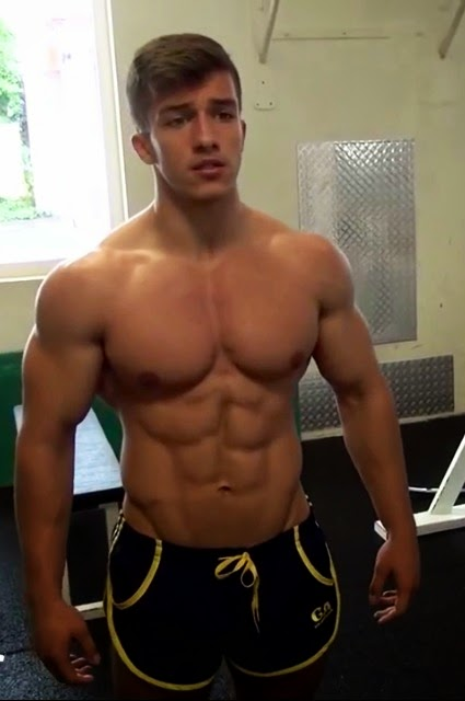 image Muscular and hung greg salim jacks off